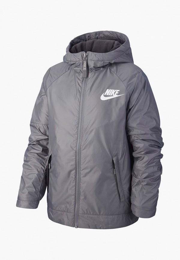 куртка nike для мальчика, серая