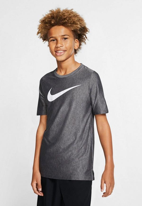 Фото 3 - Футболку спортивная Nike серого цвета