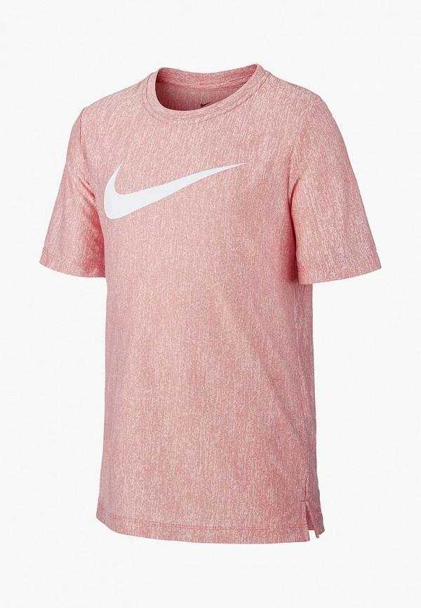 футболка nike для мальчика, розовая