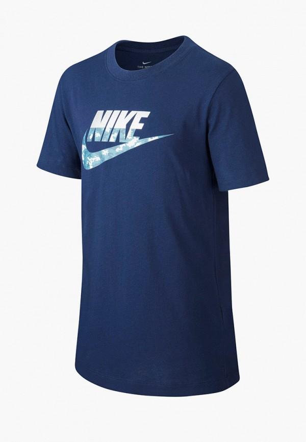 футболка nike для мальчика, синяя