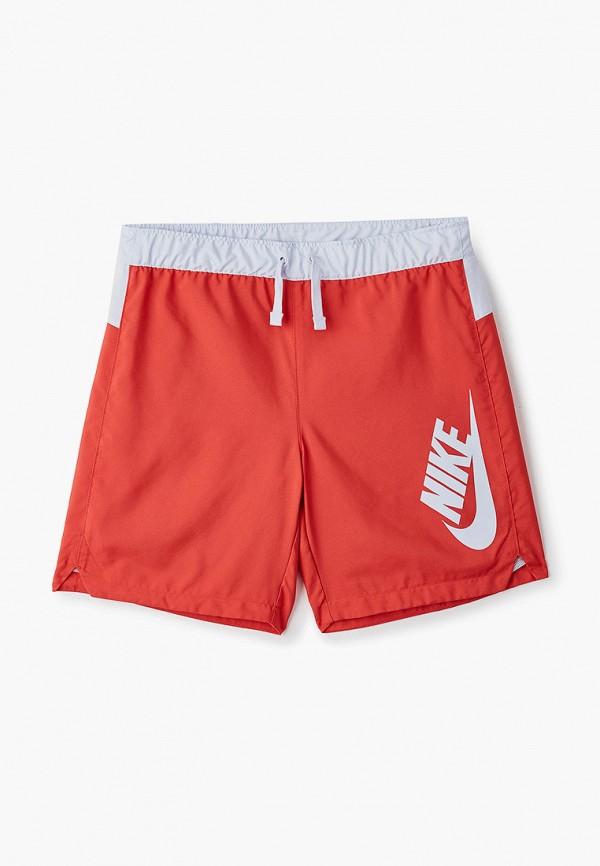 спортивные шорты nike для мальчика, красные