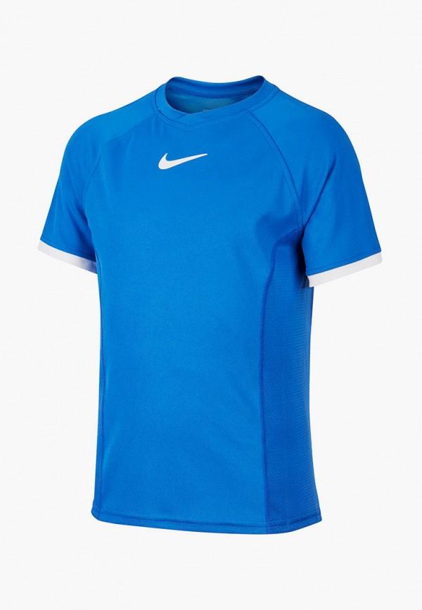 футболка с коротким рукавом nike для мальчика, синяя