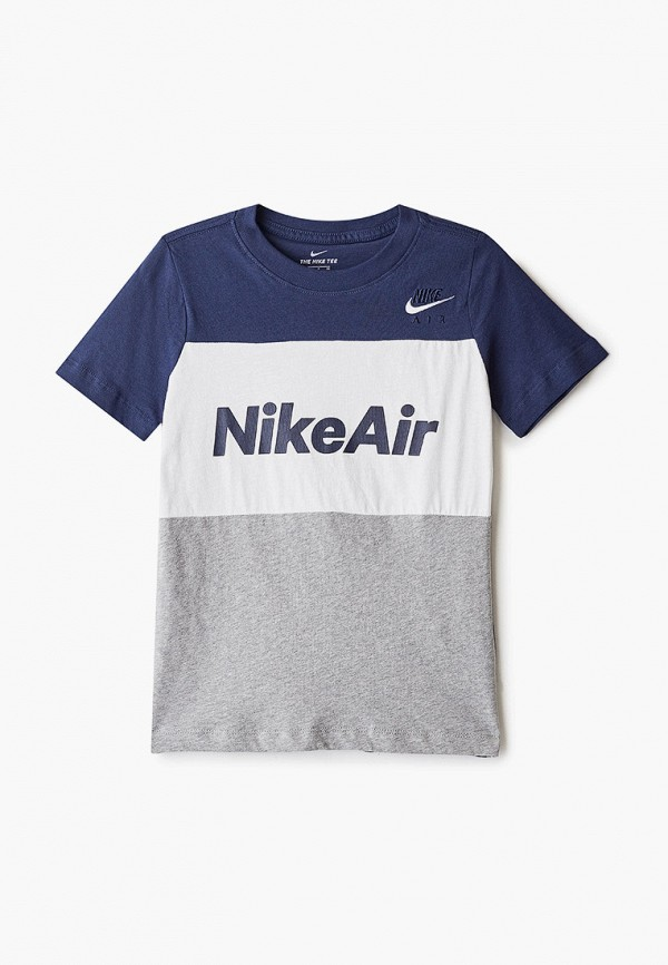 футболка с коротким рукавом nike для мальчика, разноцветная