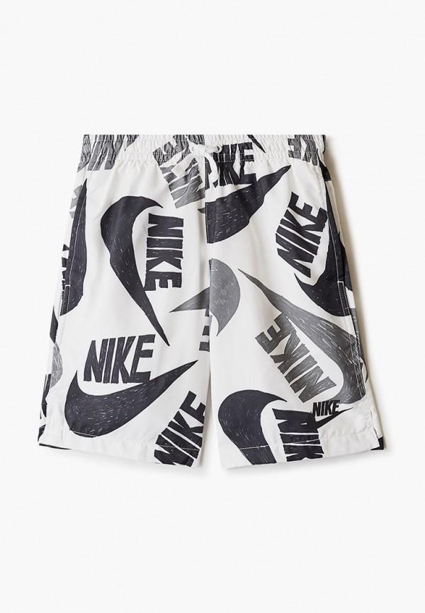 спортивные шорты nike для мальчика, белые