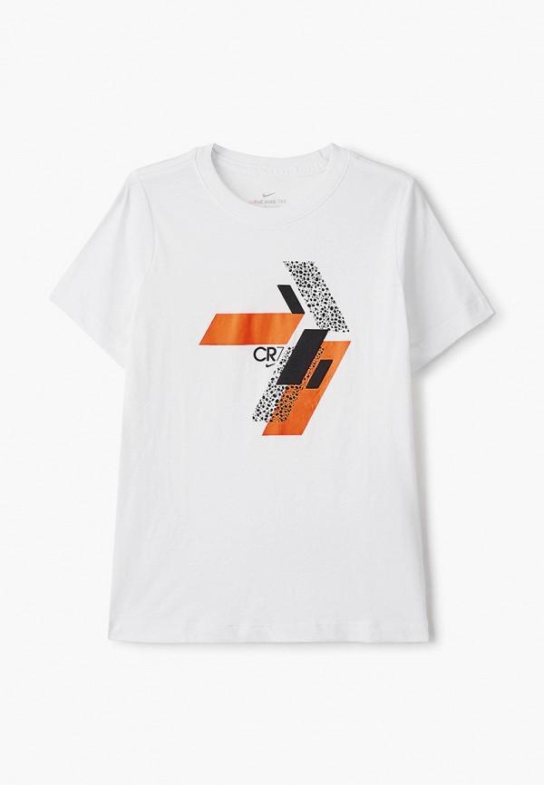 футболка с коротким рукавом nike для мальчика, белая