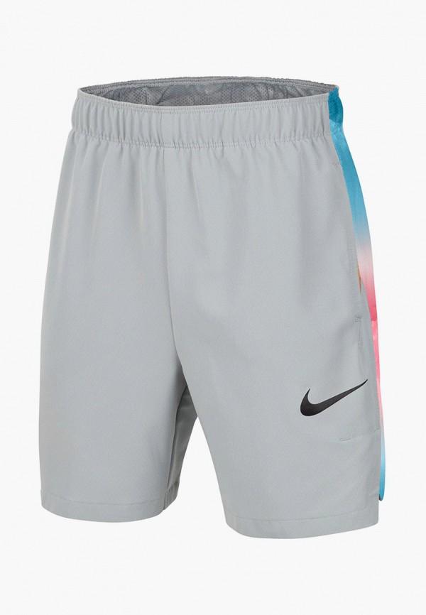 спортивные шорты nike для мальчика, серые