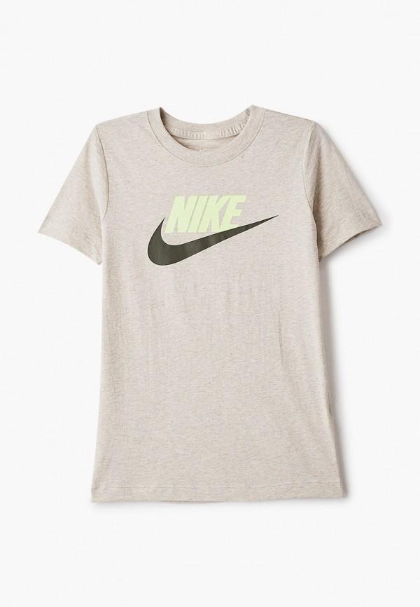 футболка с коротким рукавом nike для мальчика, серая