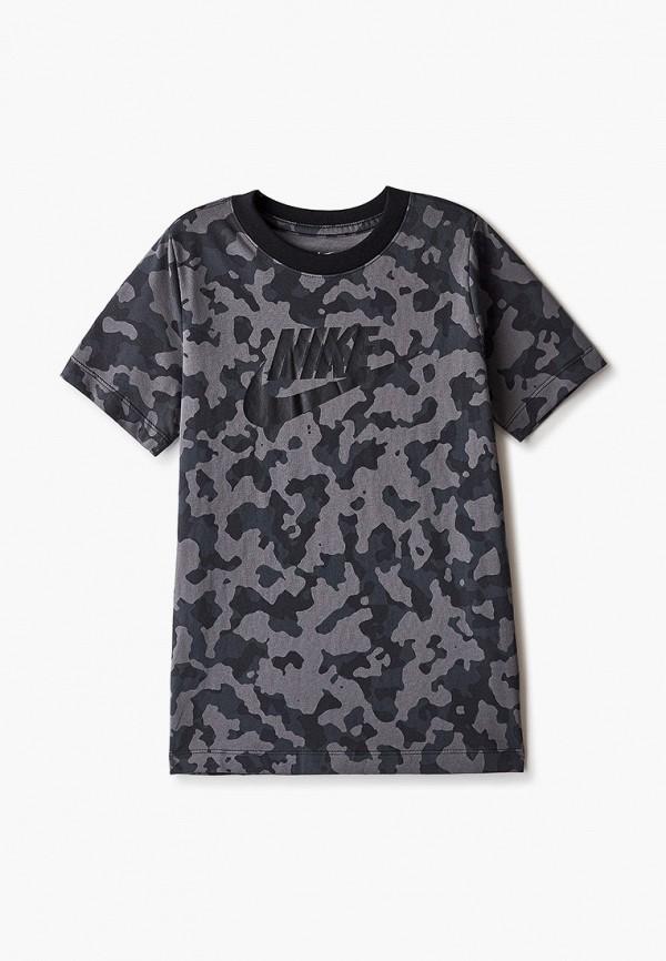 футболка nike для мальчика, серая