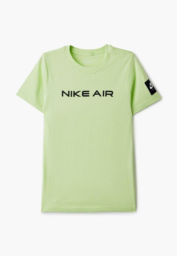футболка nike для мальчика, зеленая