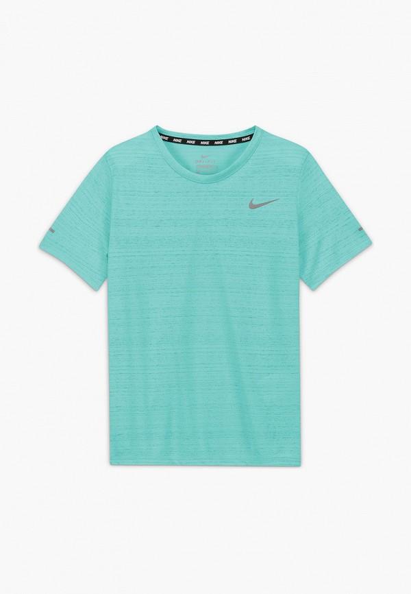 футболка с коротким рукавом nike для мальчика, бирюзовая