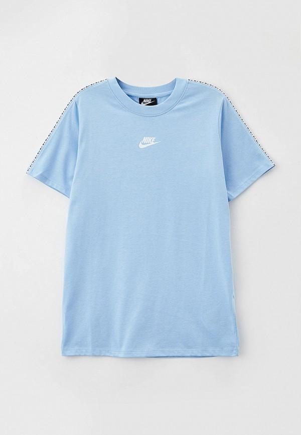 футболка nike для мальчика, голубая