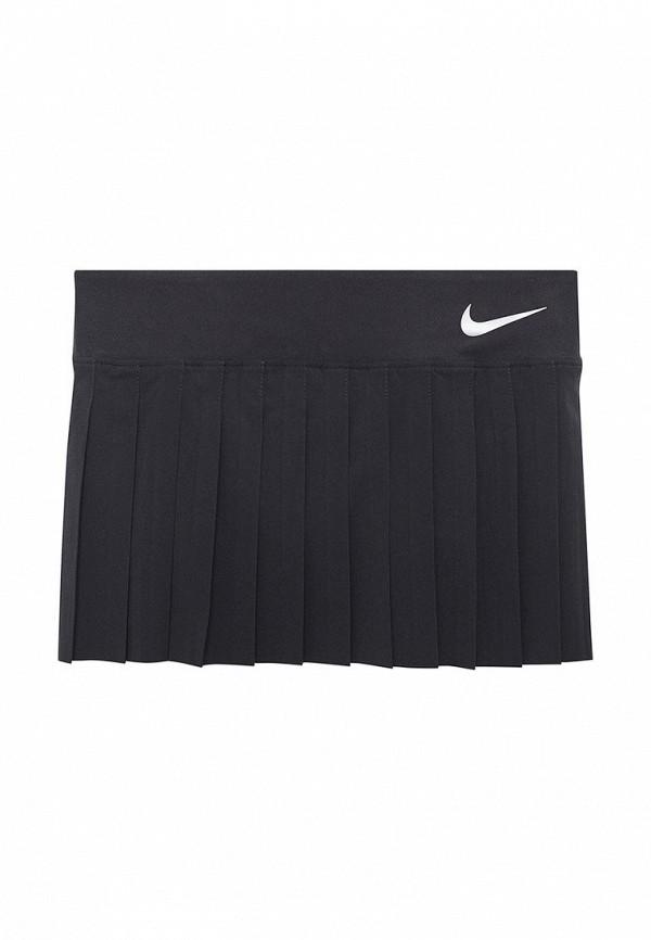 Купить Юбка Nike, GIRLS NKCT VICTORY SKIRT, NI464EGABBC2, черный, Весна-лето 2018