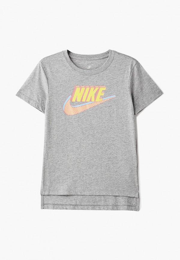 Купить Футболка Nike, Nike Sportswear Girls' T-Shirt, ni464egbymx1, серый, Осень-зима 2018/2019