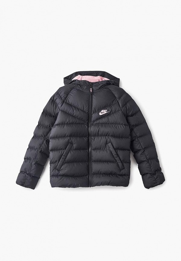 куртка nike для девочки, черная