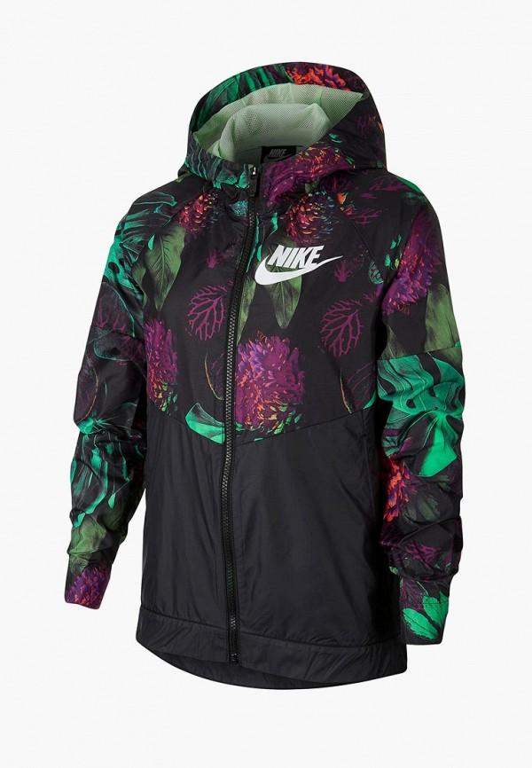 Купить Ветровка Nike, G NSW WR JKT HD AOP1, ni464egdsir3, черный, Весна-лето 2019