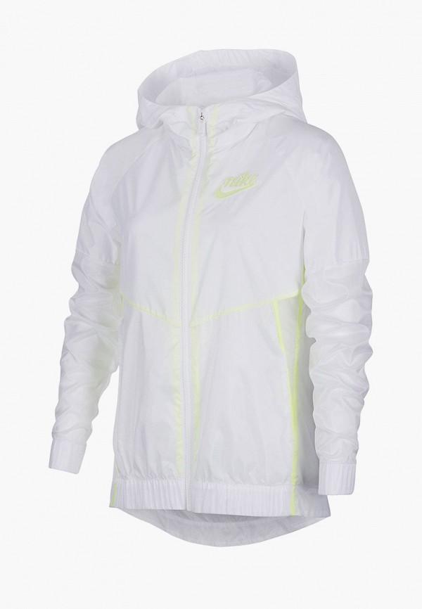 куртка nike для девочки, белая