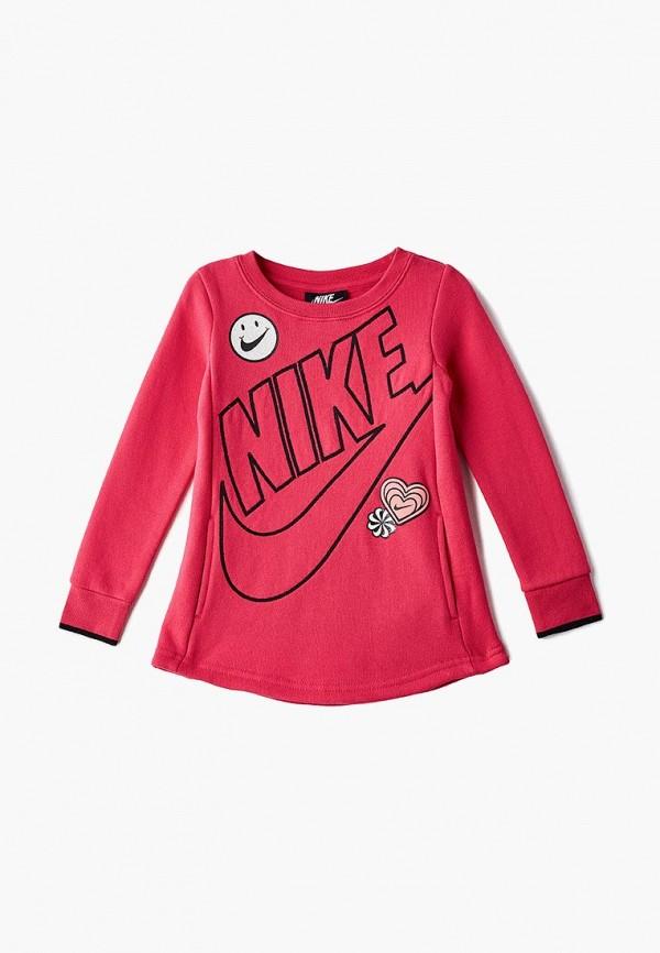 повседневные платье nike для девочки, розовое