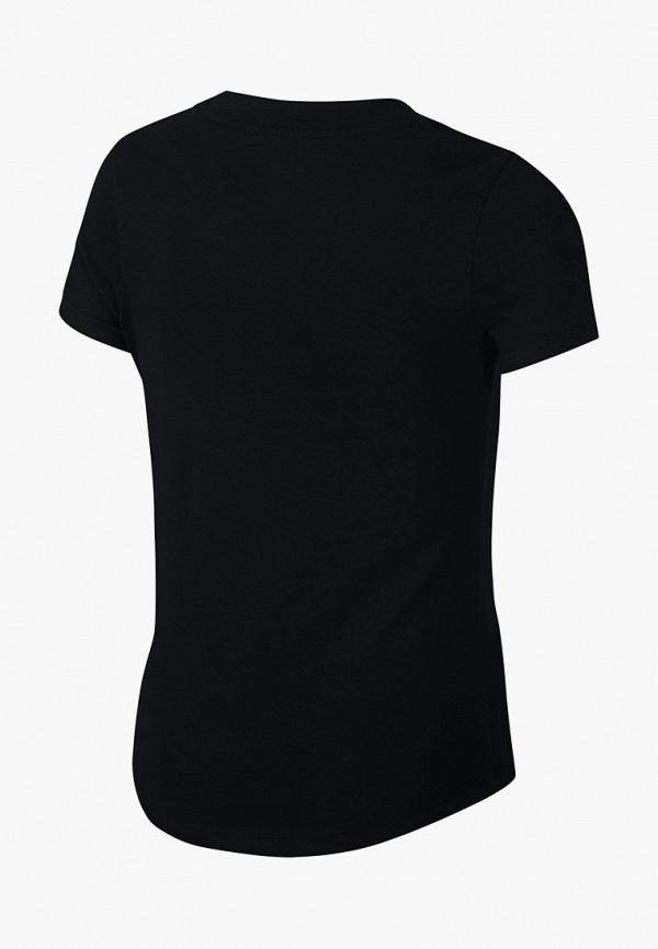 Фото 2 - Футболку Nike черного цвета