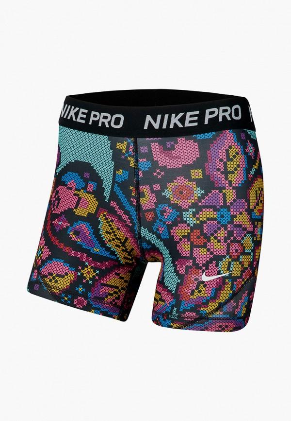 спортивные шорты nike для девочки, разноцветные