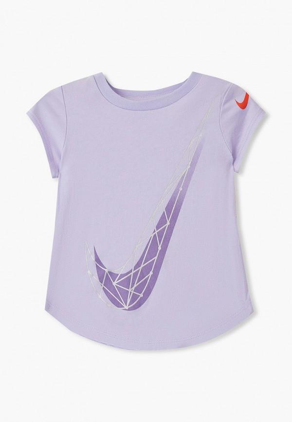 футболка nike для девочки, фиолетовая
