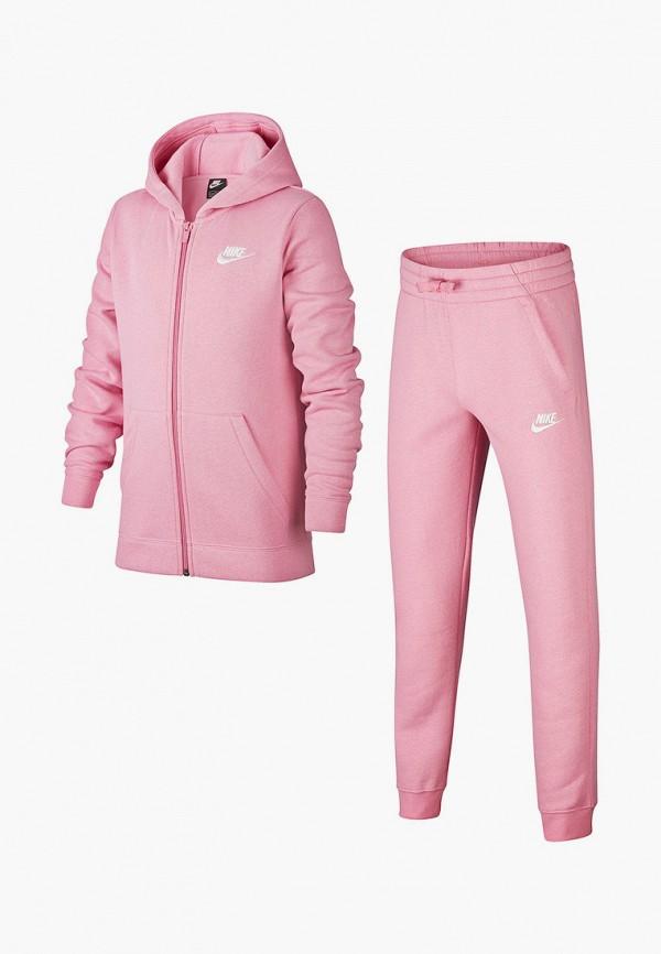 спортивный костюм nike для девочки, розовый