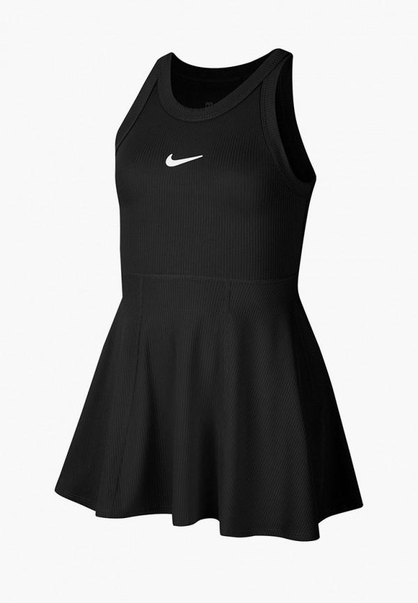 спортивные платье nike для девочки, черное