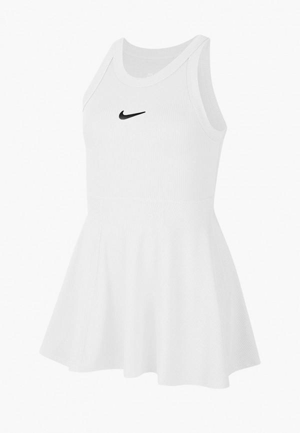 спортивные платье nike для девочки, белое