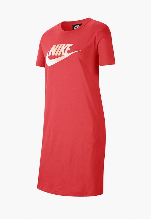 платье nike для девочки, красное