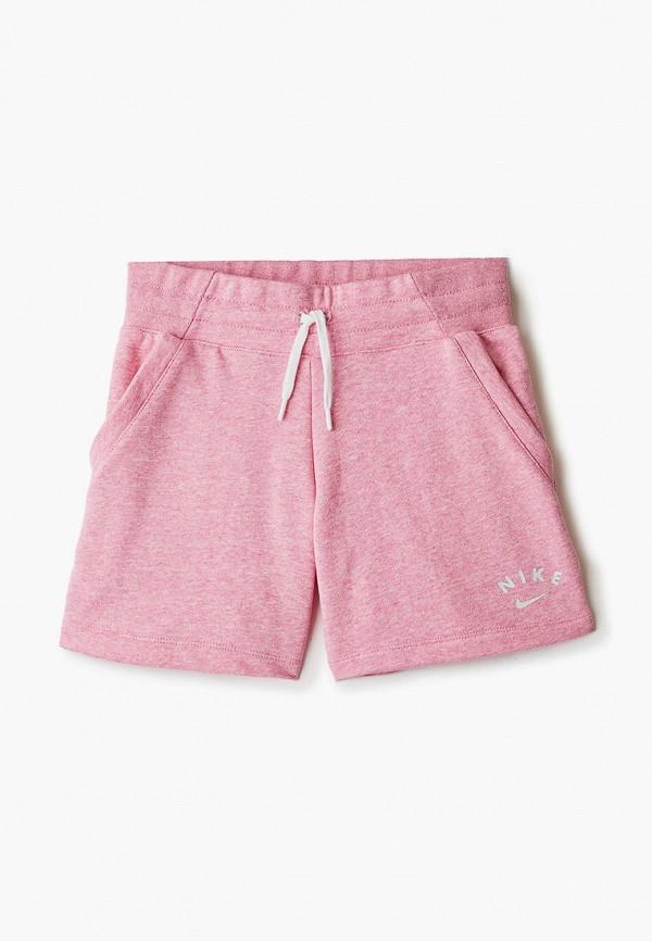 шорты nike для девочки, розовые