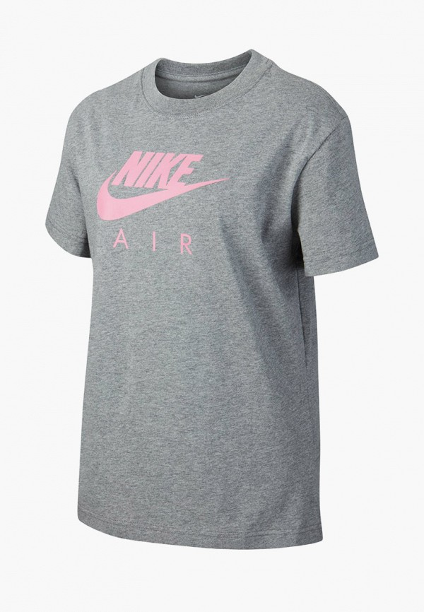 футболка nike для девочки, серая