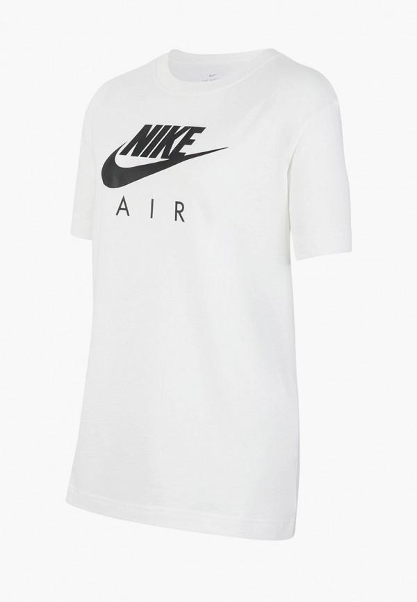 футболка nike для девочки, белая