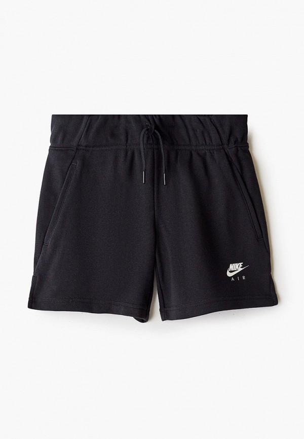 спортивные шорты nike для девочки, черные