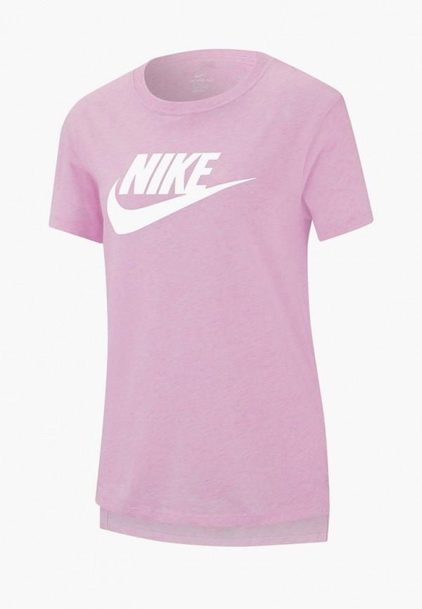 футболка nike для девочки, розовая