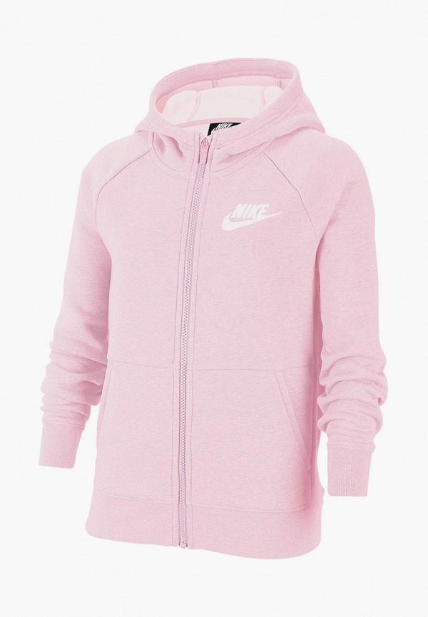 толстовка nike для девочки, розовая