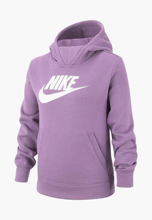 худи nike для девочки, фиолетовые