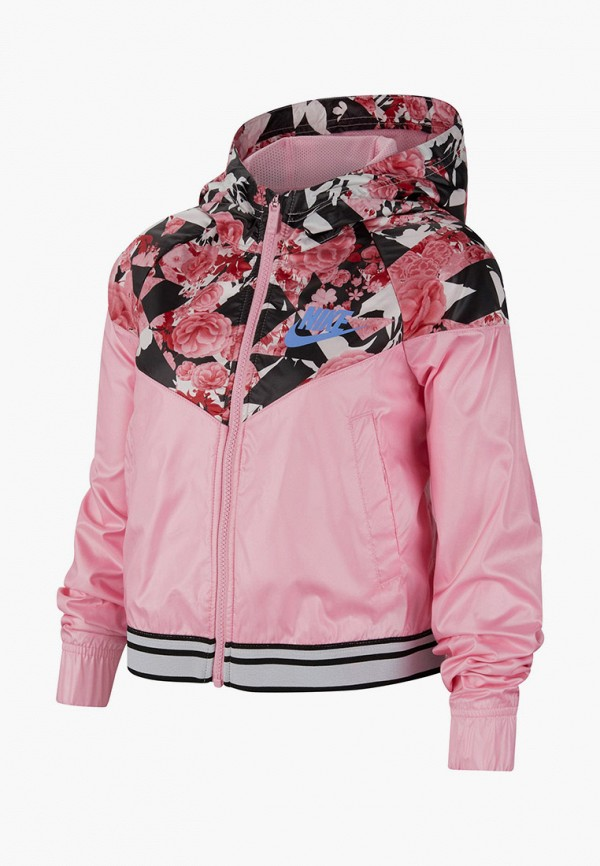 ветровка nike для девочки, розовая