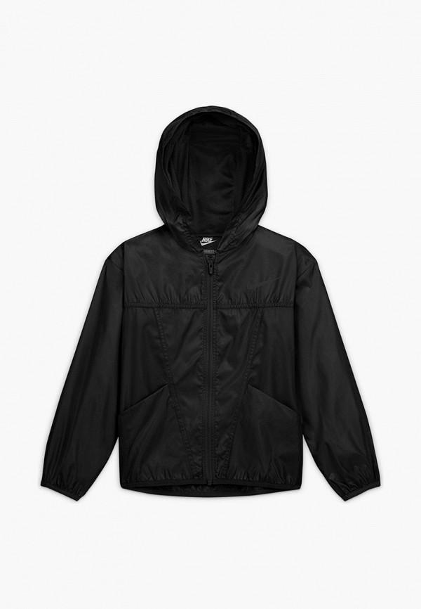 легкие куртка nike для девочки, черная