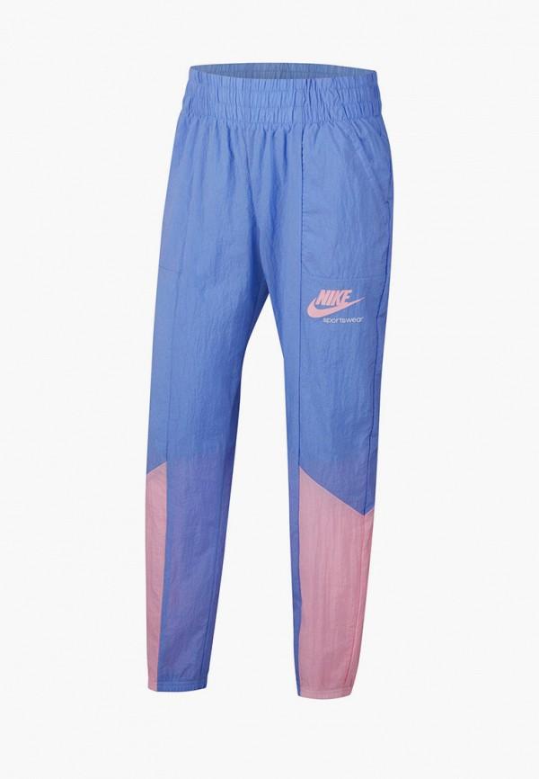 спортивные брюки nike для девочки, голубые