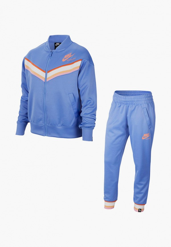 спортивный костюм nike для девочки, голубой