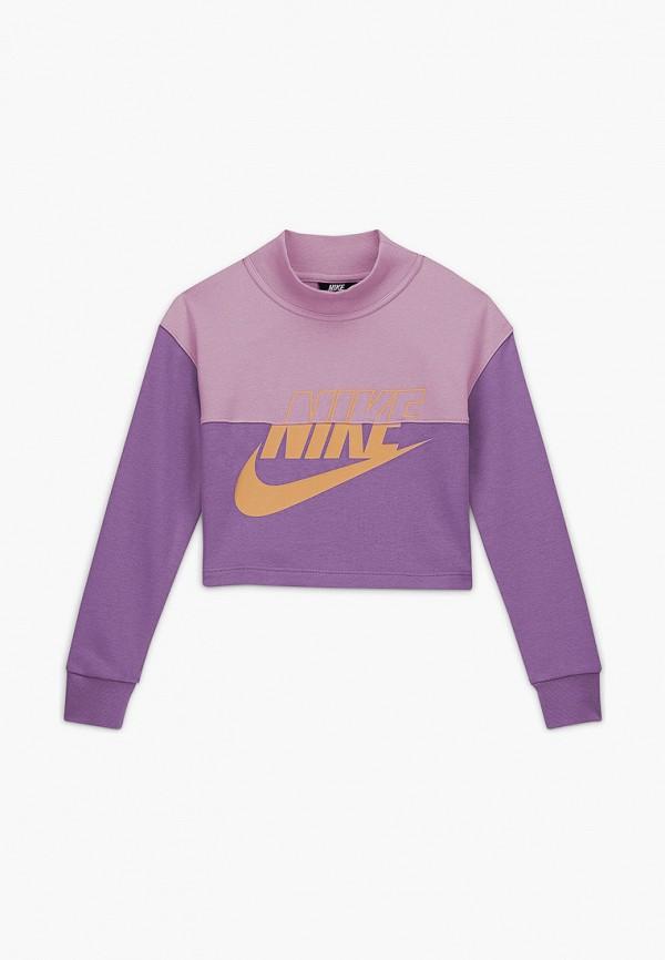 свитшот nike для девочки, фиолетовый