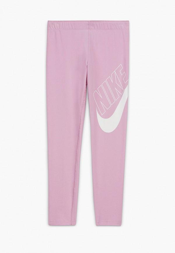 леггинсы nike для девочки, розовые
