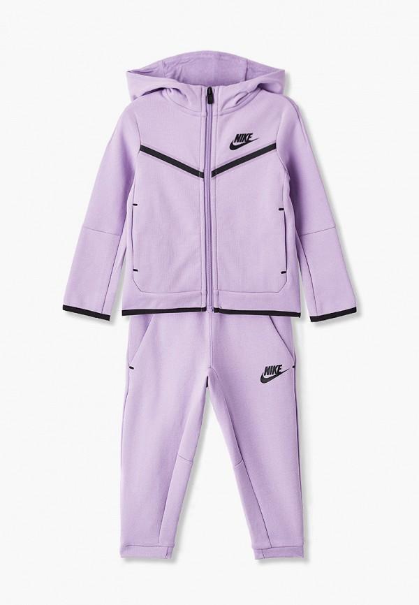 спортивный костюм nike для девочки, фиолетовый