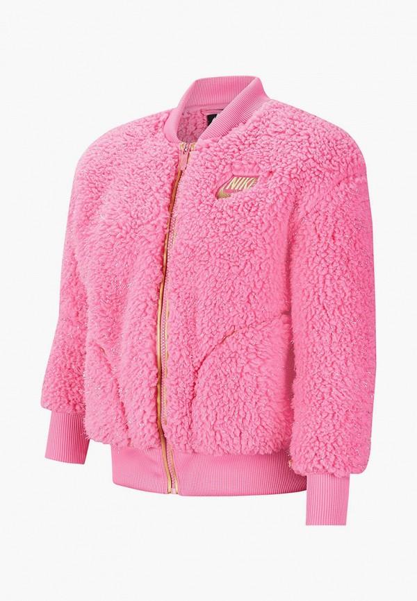 шуба nike для девочки, розовая