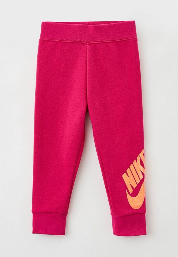 спортивные брюки nike для девочки, розовые