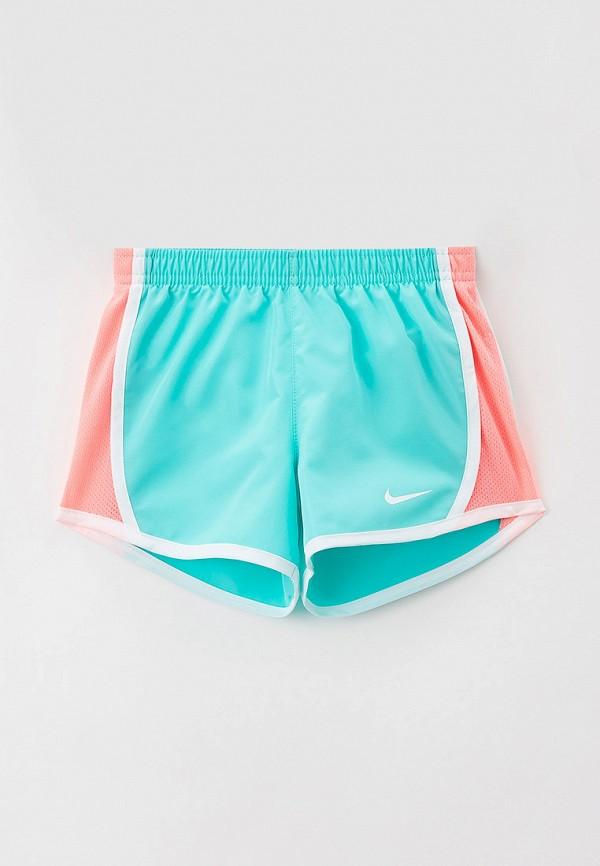 спортивные шорты nike для девочки, бирюзовые