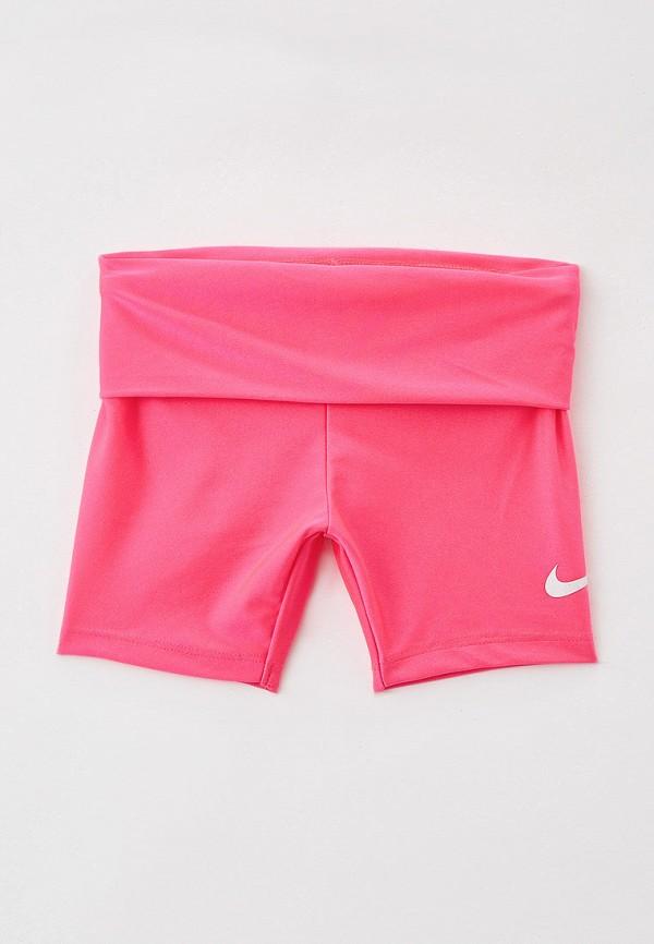 спортивные шорты nike для девочки, розовые