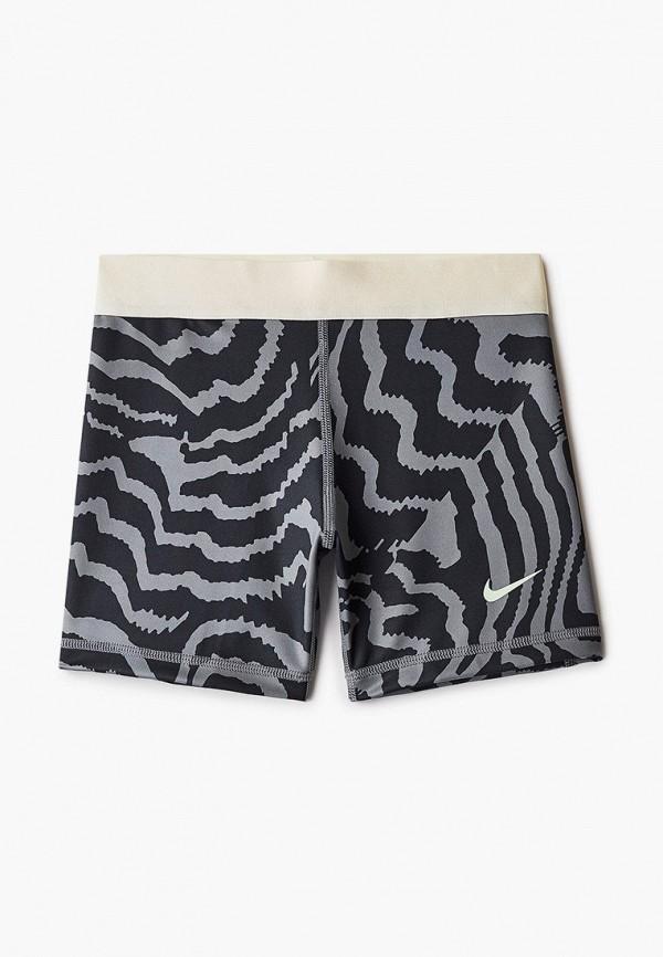 спортивные шорты nike для девочки, серые