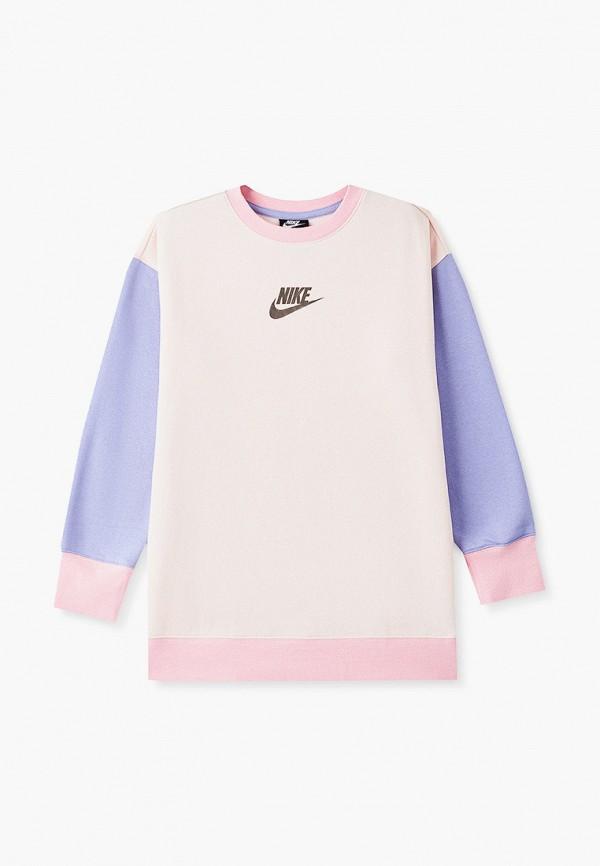свитшот nike для девочки, розовый
