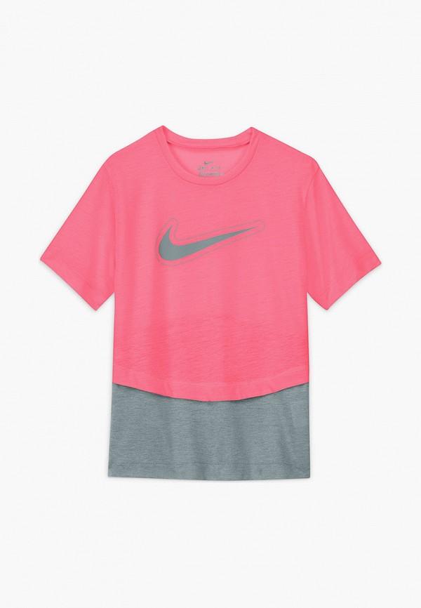Футболка спортивная Nike Nike DA1096 розовый фото