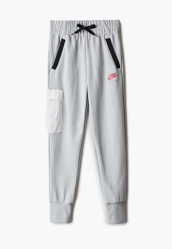 спортивные брюки nike для девочки, серые